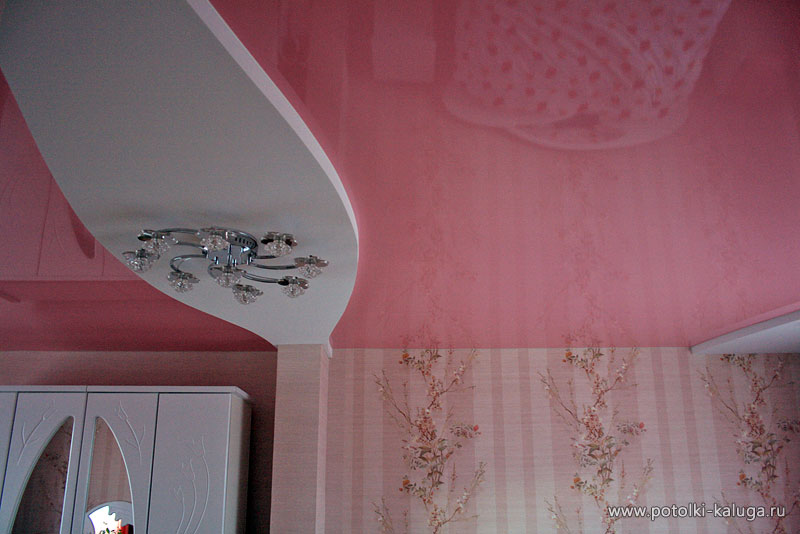 Фото многоуровневых натяжных потолков